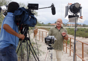 Weather Channel's Cantore in Tucson