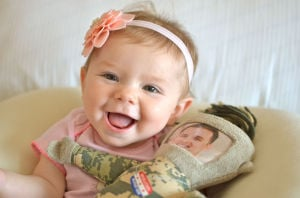 Family Ties: Infant is a reminder of military's sacrifice