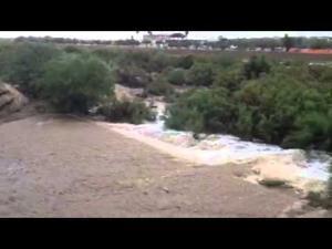 Rillito River flowing