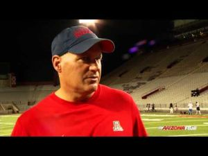 Rich Rodriguez after practice Tuesday