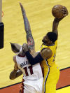 NBA playoffs Pacers 97, Heat 93 Indiana's defense gets even with Heat