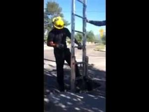 Video: Tucson Fire Department rescues cat using a ladder