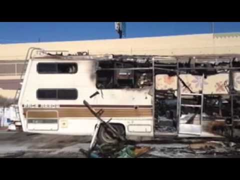 Video: RV Fire I-10 frontage road near Grant Road