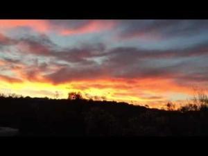 Sunday's sunset over Tucson