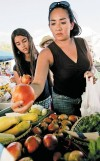Some home veggies go to market