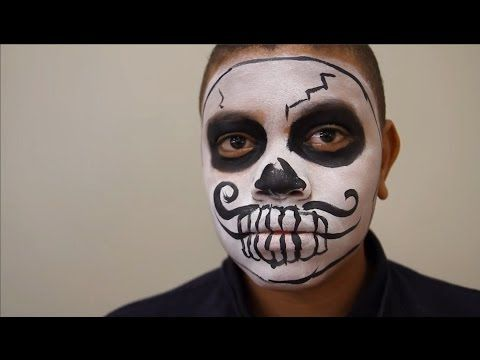 Youtube : Easy boy sugar skull face paint
