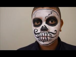 Easy boy sugar skull face paint