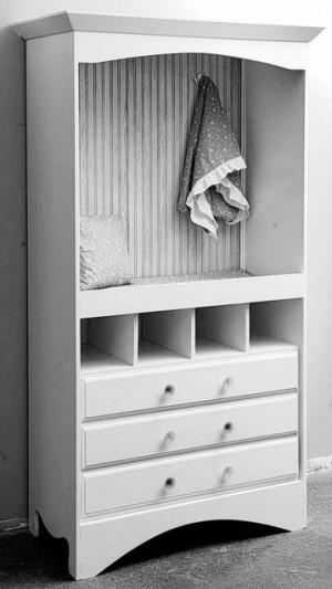 Repurpose dated TV armoire
