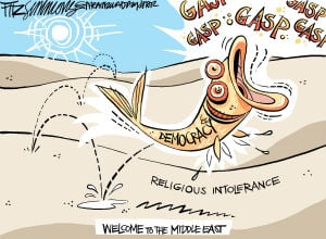 Daily Fitz Cartoon: Middle East