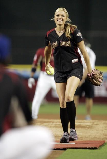 Major league baseball celebrity all star softball game
