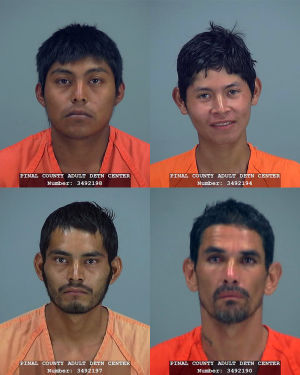 4 border crossers busted with pot in Pinal County