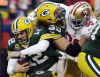 Aldon Smith, Aaron Rodgers, David Bakhtiari