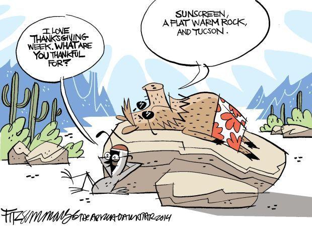 Daily Fitz Cartoon: Thankful