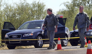 Man held in kidnap after cross-Tucson chase