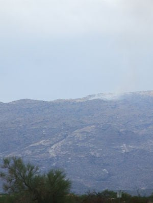 Second wildfire burning in Rincon Mountains