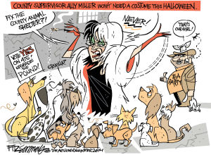 Daily Fitz Cartoon: Cruella DeMiller