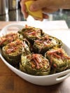 Stuffed Artichokes with Lemon-Garlic Bread Crumbs
