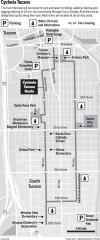 Map: Cyclovia Tucson route