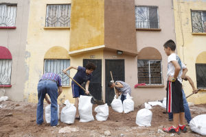 Nogales rain gauge registered 8 inches in 48 hours