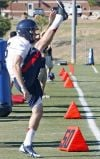 Arizona football practice at Fort Huachuca