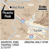 Picacho Peak: Peak has climb it control (with satellite tour)
