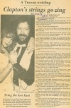 March 28, 1979 A Tucson wedding — Clapton's strings go zing