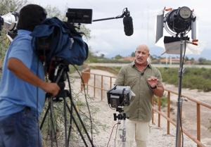 Weather Channel storm-chaser Jim Cantore in Tucson