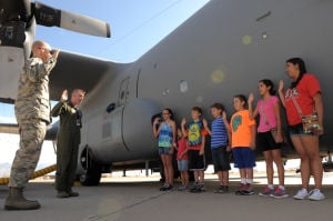 Airmen in your community: Patients from Steele Children's Research Center tour D-M