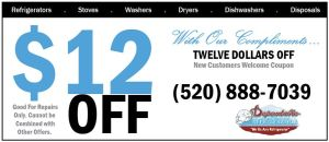 Save!  New Customers - Refrigerator repair $12 off!  at Dependable Refrigeration LLC call 520-888-7039