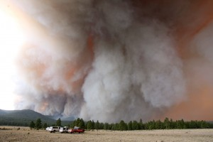 Homes evacuated as blaze spreads near Alpine