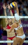 London Olympics: beach volleyball: Dancing on the beach