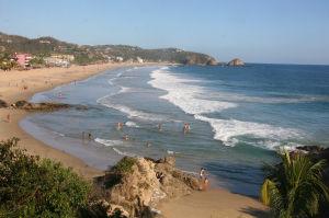 Zipolite, playa tranquila y solitaria en México