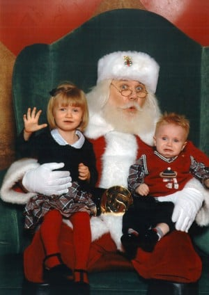'Scared of Santa' contest entries