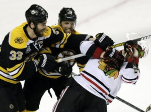 Stanley Cup Finals: Bruins 2, Blackhawks 0: Saving Bruins from OT