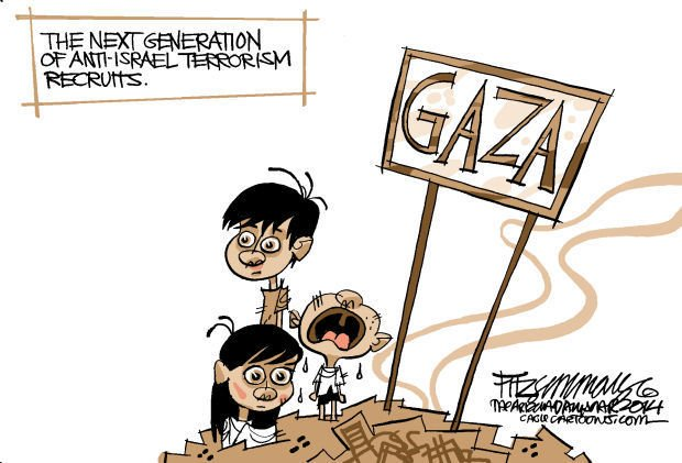 Daily Fitz Cartoon:Gaza