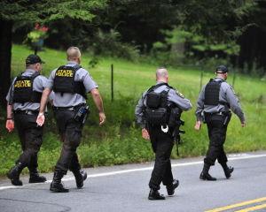 Police taking precautions in ambush suspect search