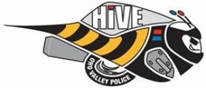 Police swarm during HiVE deployment today