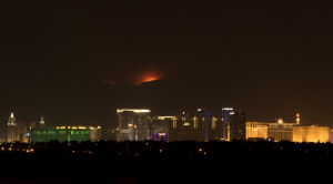 Photos: Wildfire's glow competes with Vegas Strip's glitter