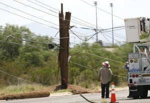 TEP crews repair storm damage