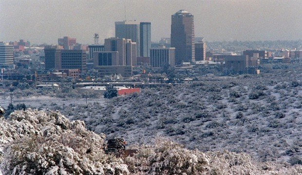 Tucson Awoke To White Christmas 25 Years Ago