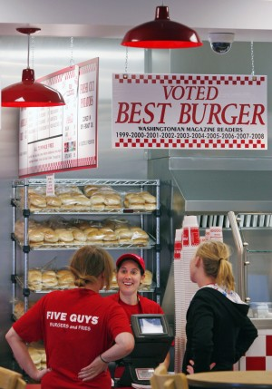 Five Guys opening Monday on 22nd and Harrison