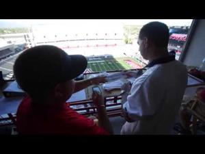 Arizona Stadium P.A. announcer Jimmy Zasa