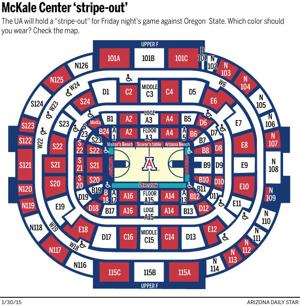 Which colors to wear for McKale Center 'stripe-out'