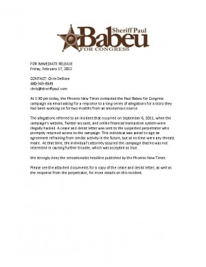 Babeu denies published report of threats