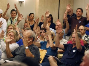 Photos: Conflict at ADSB board meeting