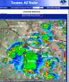 Severe storms reported west of Tucson