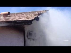 Unattended grill sparks eastside Tucson house fire (2nd video)