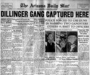 Photos: John Dillinger in Tucson