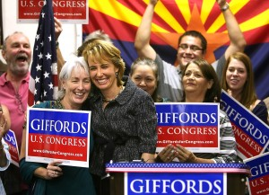 Giffords declares victory after expanding her lead
