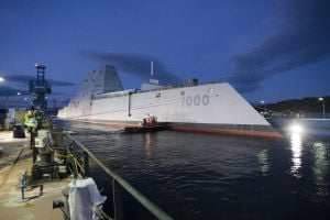 Photos: Navy's new, deadly stealth destroyer launched